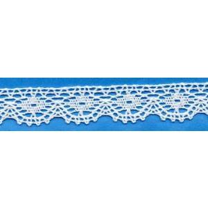トーションレース 綿 白 15mm幅 測り売り1m単位 メール便発送対象商品|aznetcc