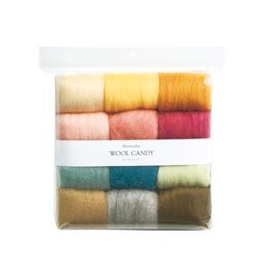 ※カラフルな羊毛をバランスよくまとめた多色セット ■容量:120g(各色約10g)     ●可能な...