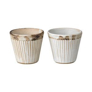 益子焼 スリムラインフリーカップペア 42-210-101|azp-shop