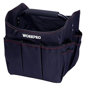 WORKPRO 折り畳みツールバッグ 250mm 工具差し入れ 道具袋 ツール収納バッグ 工具収納&...