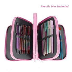 Aumesa Rano 新型 色鉛筆ホルダー 人気 色鉛筆ケース 72 ペンシルホルダー 色鉛筆 収納 筆箱 大容量 シンプル ペンケース(色鉛筆なし) (ピンク)