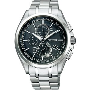 [シチズン]CITIZEN 腕時計 ATTESA アテッサ Eco-Drive エコ・ドライブ 電波時計 ダイレクトフライト 針表示式 薄型  マスコミモデル AT8040-57E メンズ azsys