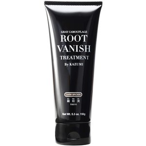 Root Vanish 白髪染め ヘアカラートリートメント ダークブラウン (100%天然成分配合/髪と頭皮に優しい白髪染め・22種類の植物エキス配合) azsys