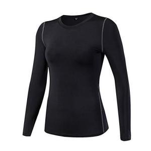 Lanbaosi スポーツ インナー シャツ レディース 長袖 冷感コンプレッションtシャツ [UVカット 吸汗速乾] トレーニング アンダーウェア ジョギング テニス 登山 azsys