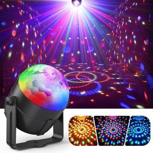 ディスコライト、Fooxonサウンドアクティブ化されたDJディスコライト回転ボールライト5W 8モードRGB LEDステージライト屋外祝日ダンスパーティー誕生日DJバーカ azsys