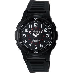 [シチズン キューアンドキュー]CITIZEN Q&Q 腕時計 Falcon ファルコン アナログ表示 10気圧防水 ウレタンベルト ブラック VP84-854 azsys