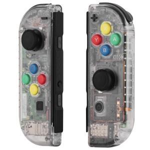 Myriann 任天堂 Nintendo Switch ニンテンドー カラー置換ケース 代わりケース 外殻 ついに登場! (ジョイコン-透明感) 新製品|azsys