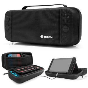 tomtoc Nintendo Switch 専用ケース、持ち運び キャリングケース ハードポーチ 大容量 Nintendo Switch コントローラー アクセサリーポーチ? ブラック|azsys