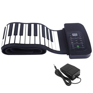 スマリー(SMALY) 電子ピアノ ロールアップピアノ 88鍵盤 持ち運び (スピーカー内蔵) フットペダル付き SMALY-PIANO-88 azsys
