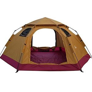 Hewflit ワンタッチテント ドームテント 5人用 簡単設営 組み立て簡単 アウトドア キャンプ 天窓付き bigサイズ290×240×145cm 収納袋付き 5色選択可能 六角テ|azsys