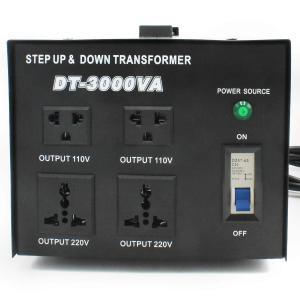 LVYUAN(リョクエン)アップトランス ダウントランス【電圧安定装置】【 海外機器対応 変圧器】【220V地域向け/3000W】DT-3000VA トランスターユニバーサル 100/ azsys