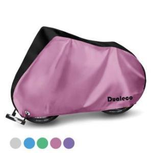 Dualeco 自転車カバー 子供用 キッズ サイクルカバー 防水 厚手 丈夫 撥水加工UVカット防犯 防風 収納袋付 破れにくい 20インチまで対応 (ブラック&ピンク)|azsys