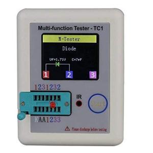 SmarTekトランジスタテスタLCR-TC1 ダイオード/トランジスタ/コンデンサ用 1.8inchカラーディスプレイ 多機能テスター azsys