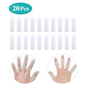 指サポーター 20個入り 手指保護キャップ 指関節サポーター 親指 ヘバーデン結節サポーター 指関節まもりん 指袖関節炎・突き指・バネ指に 指先・関節の保護 マ|azsys