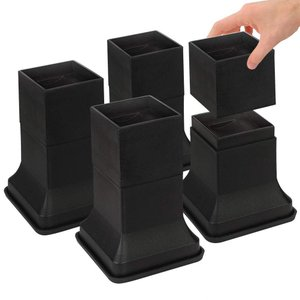 Uping テーブル・ ベッドの高さ調節が簡単にできる ベッド の高さをあげる足 4個セット 高さを上げる 高さ調節脚 こたつ 継足し 継ぎ足 テーブル脚台 高さ調整 azsys