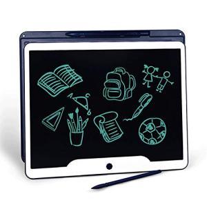 Jonzoo超大型 電子メモ 15インチ 保存機能付き 電子メモパッド 書いて消せるボード 打ち合わせ 商談 伝言ボード お絵かきボード 単語帳 大人気 (blue)|azsys