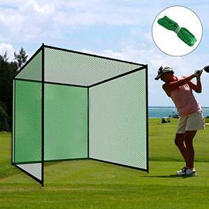CleverCare_JP ゴルフネット 練習用ネット 3M×3M×3M 折り畳み 練習 大型 自宅 庭 ガレージ 野球 テニス サッカー 投球練習 園芸 固定 組立簡単|azsys