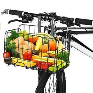 自転車かご 折りたたみ式 脱着式 前かご 後ろかご バスケット ステンレス製 マウンテンバイク クロスバイク 折り畳み自転車 通勤車等用|azsys