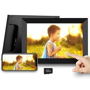 Aurara デジタルフォトフレーム WiFi対応 8インチ タッチパネル IPS広視野角 1280*800解像度 人感センサー 32GBカード付き 写真/動画/音楽再生/スライドショー/ azsys
