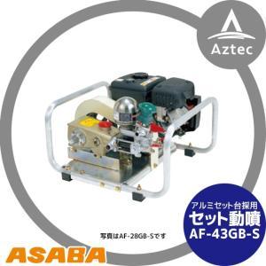 【麻場】セット動噴 ピストン式 AF-43GB-S|aztec