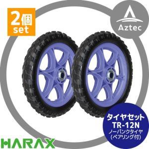 【ハラックス】タイヤ2個セット 12N(12インチタイヤ) ノーパンクタイヤ(プラホイール)|aztec