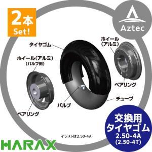 ハラックス HARAX 交換用タイヤゴム 2.50-4A用タイヤゴム TR-GM2.50<2本セット> AZTEC PayPayモール店