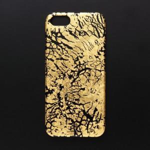 iPhone5/5sケース 黒地純金干割れ|azula-kyoto