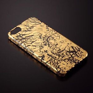 iPhone5/5sケース 黒地純金干割れ|azula-kyoto|02