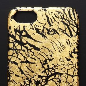 iPhone5/5sケース 黒地純金干割れ|azula-kyoto|03