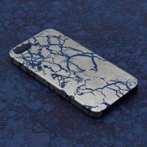 iPhone5/5sケース 青地プラチナ干割れ|azula-kyoto|02