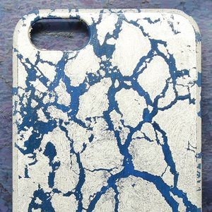 iPhone5/5sケース 青地プラチナ干割れ|azula-kyoto|03