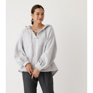 LACE-UP LOOSE HOODIE/レースアップルーズフーディ /レディース/トップス パーカ...