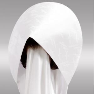 結婚式 花嫁用 綿帽子 りんず 鶴  抜群のシルエットです。全国送料無料!|azuma-onlineshop