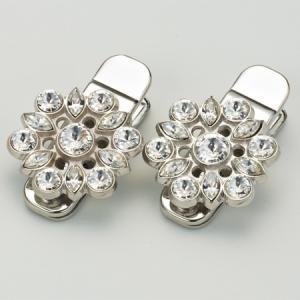 着物着付け用 袖止 ダイヤ  銀 花嫁着付けに飾り付きのおしゃれなクリップ|azuma-onlineshop