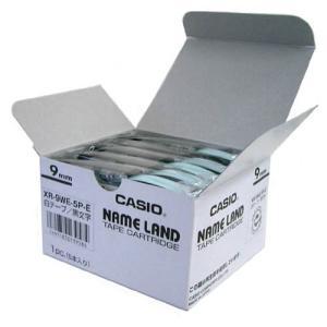 XR-9WE-5P-E ネームランドテープ 9mm 白ラベル/黒文字|azumaya