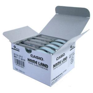 XR-9X-5P-E ネームランドテープ 9mm 透明ラベル/黒文字|azumaya