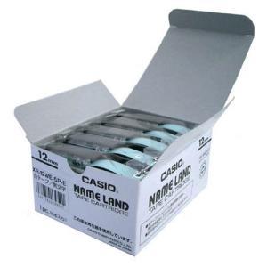 XR-12WE-5P-E ネームランドテープ 12mm 白ラベル/黒文字|azumaya
