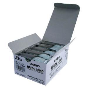 XR-18X-5P-E ネームランドテープ 18mm 透明ラベル/黒文字|azumaya