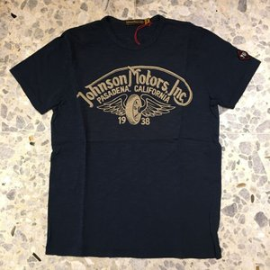 JOHNSON MOTORS ジョンソンモータース Tシャツ winged wheel 0068dn|azurshop