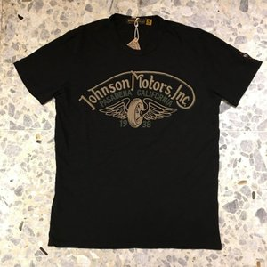 JOHNSON MOTORS ジョンソンモータース Tシャツ winged wheel 0068jet black|azurshop