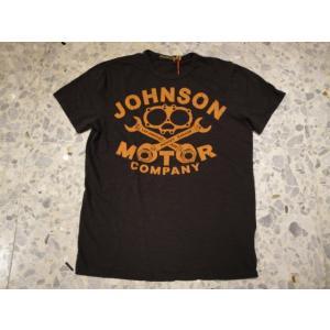 JOHNSON MOTORS ジョンソンモータース Tシャツ gasket company 43714 black tar|azurshop