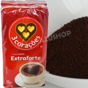 ブラジルコーヒー  500g トレス コラソエンス エクストラフォルテ Cafe 3 Coracoes Extraforte|azuselectshop