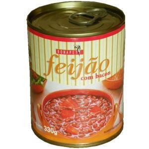 フェジョンの缶詰 ベーコン入り 330g feijao com Bacon BONAPETIT|azuselectshop