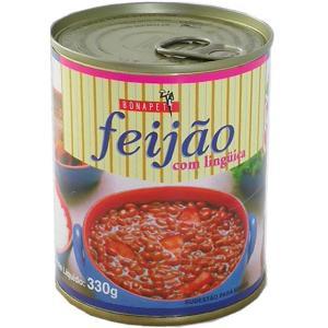 フェジョンの缶詰 リングイッサ ソーセージ入り 330g feijao com linguica BONAPETIT|azuselectshop