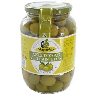 オリーブの実 種付き グリーンオリーブ 固形量520g 内容総量850g マサリコ macarico|azuselectshop