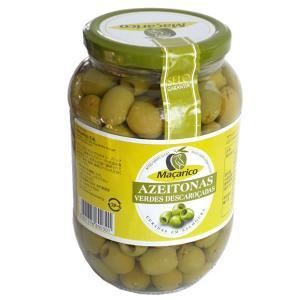 オリーブの実 種無し グリーンオリーブ 固形量400g 内容総量800g マサリコ macarico|azuselectshop