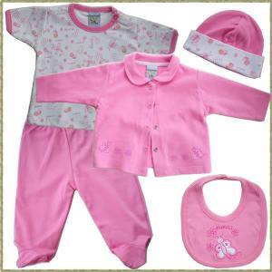 ベビー服 5点セット ピマコットン100% ククリ(KUKULI) ピンク|azuselectshop|02