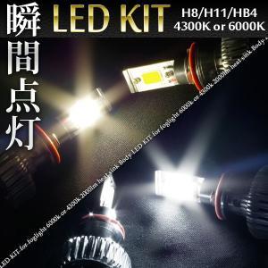 LED 次世代光源 フォグライト キット バルブ 25W 2000lm H11/H16/H8/HB4//送料無料|azzurri