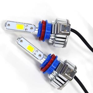 LEDヘッドライト H11(H16) 3000K/6000K オールインワン一体型 2000lm 2面COB 12V/24V E802|azzurri