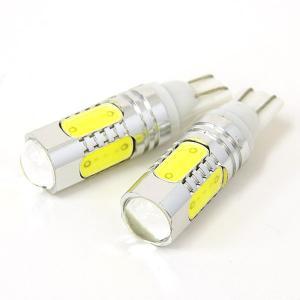 LED バルブ T10/T16 7.5W スクエアチップ5SMD プロジェクターレンズ ホワイト//送料無料|azzurri